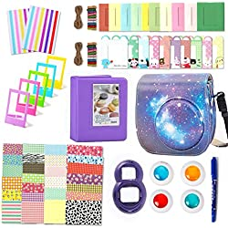 Leebotree 10 en 1. Accessoires pour Appareil Photo Instax Mini 9, Mini 8/8+, Le Package Comprend étui,Album, lentille, filtres, Cadres, Stylo et Autres (Ciel Etoilé)
