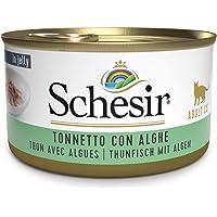 Schesir, Cibo Umido per Gatti Adulti al Gusto Tonnetto con Alghe, in Morbida Gelatina - Totale 2 Kg (24 Lattine Monodose…