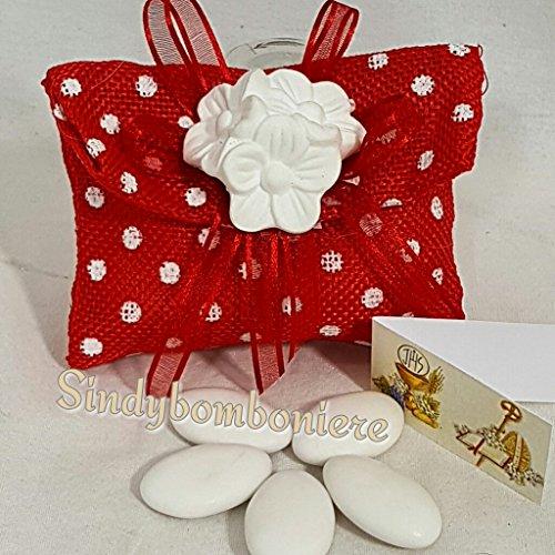 3 sacchetto bomboniera cresima laurea fiori gessetti profumati confetti inclusi