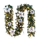 Ghirlanda Natalizia, Mambian Decorativa Chic Bello Corona Di Natale Decorazioni Di Natale Porta Indoor Festa Natalizia Regalo (N)