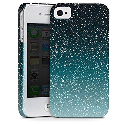 Apple iPhone X Silikon Hülle Case Schutzhülle Glitzer Glitter Muster Premium Case glänzend
