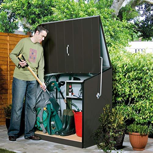 Trimetals Gerätebox, Aufbewahrungsbox, Multifunktionsbox, Fahrradbox Stowaway Anthrazit 138x89x113 cm (LxBxH); Multibox aus verzinktem Stahl - 5
