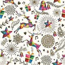 Servilletas de la servilleta 33 x 33 cm decoupage Navidad Elk reno estrellas Moose diseño abstracto