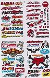 Autocollant Sticker Sponsors Réglage Tuning Rally Voiture modèle Moto 1 Page 27 x 18 cm pour l'extérieur (Variante 1)