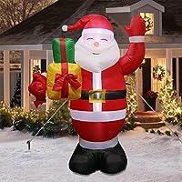 AerWo Saludos inflables Gigantes de Santa de los 5ft, Decoraciones inflables Lindas de la Navidad