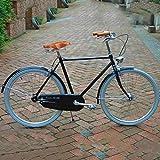 Beautyrain 1 Stück Kuhfell-Fahrradsitz mit Federsattelbezug Radfahren Werkzeug Zubehör Gelb
