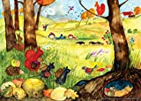 Poster fürs Kinderzimmer von Eva Maria Ott-Heidmann - Herbsttreiben vom