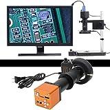 Mikroskop 34 MP, mikroskop, 34 MP, 180 x, HD, przemysłowy mikroskop z lupą, HDMI, USB, 34 MP, 56 diod LED, 180 x, HD, przemys