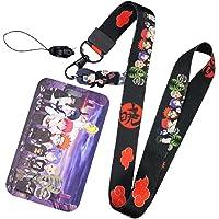 ALTcompluser Anime Naruto Porte-carte avec cordon pour porte-clés, carte d'identité, carte d'identité, carte d'identité…