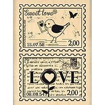 Florilèges FE214012 Sello Diseño Scrapbooking Amor correo Beige 8 x 6 x 2,5 cm