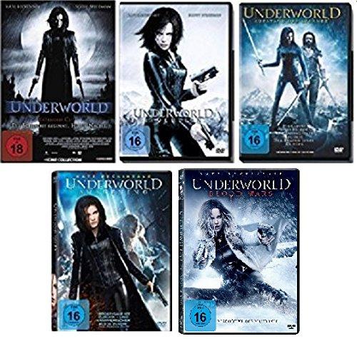 Underworld 1-5 (Underworld - Evolution - Aufstand der Lykaner - Awakening - Blood Wars) FSK-18 DVD Set - Deutsche Originalware [6 DVDs] (Dvd Underworld)