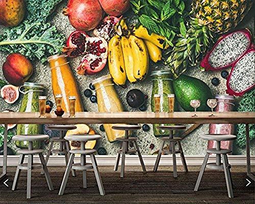 FSLUCKY Saft Frucht Avocado Bananen Lebensmittel Foto Tapete Restaurant Bar Lounge Bar Fernseher Sofa Wand Küche 3D Wand-G (Früchte-wand-aufkleber)