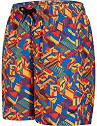 Speedo Boys' Clash Block Printed Leisure 15 Inch Watershort