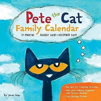 Pete the Cat 2018-2019 Calendar: 17-Month Family