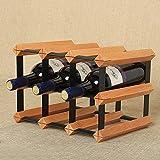 HAIZHEN Moderne Holz- Wine Rack 6 Flaschen Wein Flaschenständer Eisen Kunst Weinkeller Erhaltung Display für Bar Küche Restaurant Wein Zubehör Ständer