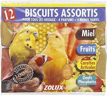 Friandises oiseaux - Biscuits assortis - Vendu par 12