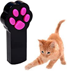 UEETEK Giocattolo del gatto del cucciolo interattivo del puntatore del fascio del LED animale del giocattolo dell'animale domestico dello strumento di addestramento dello scratch (nero)