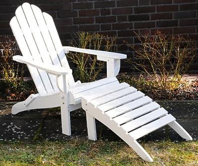 Adirondack Chair/Stuhl/ Alster Stuhl Holz Weiß