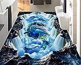 Lmopop Moderne 3D Muster Bodenfliesen Aufkleber Hotel Wohnzimmer Badezimmer Wasserdichte PVC Selbstklebende Bodenbelag Tapete Anti Verschleiß250X175Cm