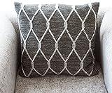 battilo Retro weicher Strick geometrischen Mustern Überwurf Decke, 129,5cm von 149,9cm, acryl, Cushion, 45*45cm