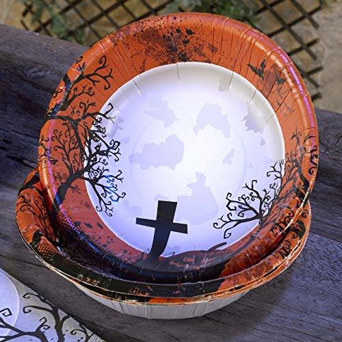 Scary Halloween Pappschalen 8 Stück - Grusel Kürbis Deko Halloween Party Schalen (Scary Kürbisse)