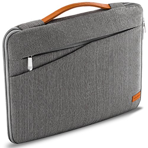 deleyCON borsa notebook per Macbook/Laptop fino a 17,3' (43,94cm) - borsa/custodia in resistente nylon - 2 tasche porta accessori - grigio