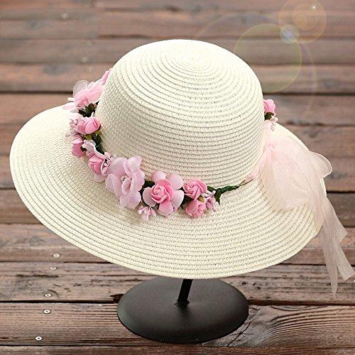 Chapeau de soleil Été féminin Chapeau d'ombre Capuchon anti-UV Bain de soleil Loisir Chapeau d'été Plage Cap ( Couleur : 7 ) 6