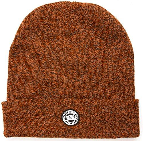 Fox Chunk Beanie Hat Wollmütze Orange/Black Marl