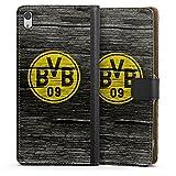 DeinDesign Sony Xperia XA Ultra Tasche Leder Flip Case Hülle Borussia Dortmund BVB Holzoptik