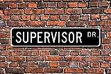 Aersing Placa Decorativa para el hogar, Diseño de Supervisor, para Oficina, Empleado, Almacén, superfábrica, Uso en Interiores y callejeros