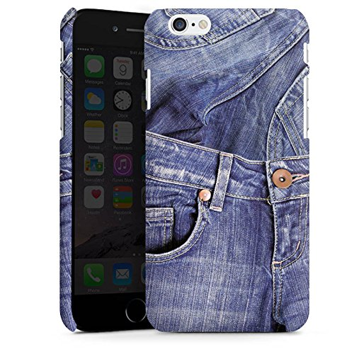 Apple iPhone X Silikon Hülle Case Schutzhülle Jeans Mode Blau Premium Case matt