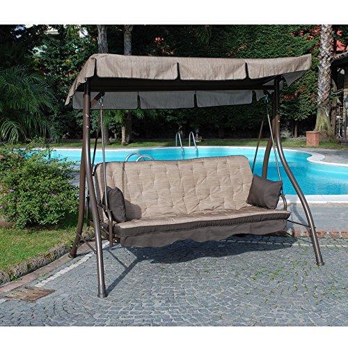 Cuscino di ricambio per dondolo Zanzibar colore ecrù in poliestere M0247-21