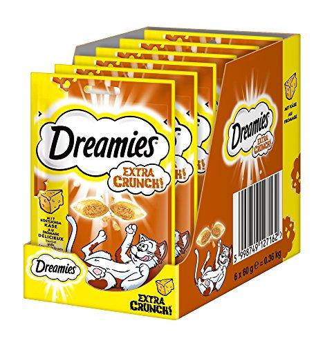 Dreamies Katzensnacks/Klassiker Extra Crunch, mit Käse, 6 Beutel (6 x 60 g)