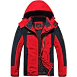 TACVASEN Men's Sports Jacket Breathable Outdoor Water-Resistant Hiking Mountain Jacket Multi-Pockets