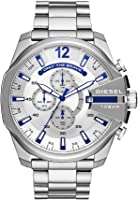 Diesel Men's 'Mega Chief' Quartz Stainless Steel Casual Watch, Color:Silver-Toned (Model: DZ4477)