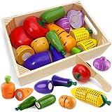 Airlab Jouets de Cuisine en Bois pour Enfants, Accessoires de Cuisine pour Enfants, Coupe de Fruits et légumes en Bois…