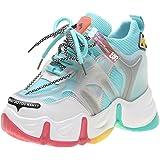 Sneakers Chunky da Donna Piattaforma Primavera Estate Scarpe Sportive Scarpe da Donna per Esterno Zeppe Tacco Alto 9CM Scarpe
