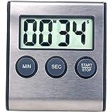Digital mini kökstimer väckarklocka för köksapparater 100 minuters timer för matlagningsstudie, sport, möte, parkering, medic