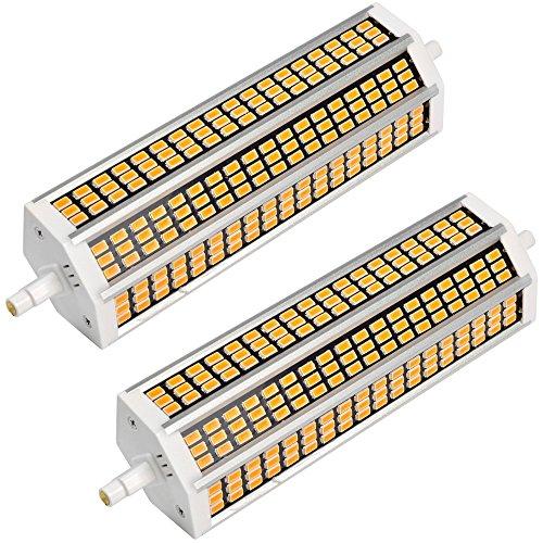 MENGS® 2 Stück R7s-J189 189mm LED Lampe 20W AC 220-240V Kaltweiß 6500K 162x5733 SMD Mit Aluminium Platte