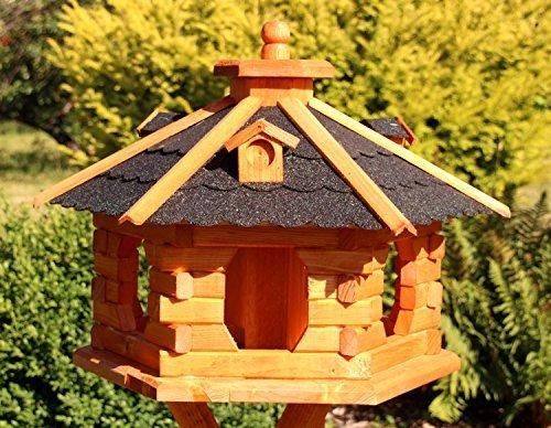 Großes Vogelhaus aus Holz Typ 5 (schwarz)