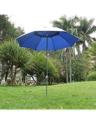 anti-uv parapluie protection solaire de jardin en plein air avec le poteau de fer