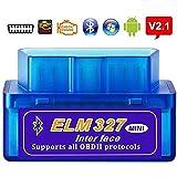 SPANTER® ELM 327 V 2.1 Obd 2 Bluetooth Auto Car Diagnostic Scanner tool for Android