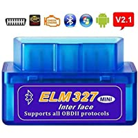 SPANTER® ELM 327 V 2.1 Obd 2 Bluetooth Auto Car Diagnostic Scanner tool for Android