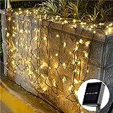 InnooTech 200er LED Solar Lichterkette Garten Außen Licht Warmweiß 20M, 8 Modi Dekorative Beleuchtung für Terrasse, Party, Hochzeit, Camping, Weihnachten, Hof usw [Energieklasse A+++]