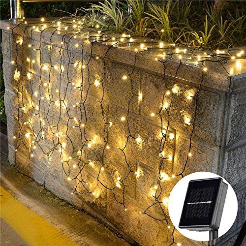 (InnooTech 200er LED Solar Lichterkette Garten Außen Licht Warmweiß 20M, 8 Modi Dekorative Beleuchtung für Terrasse, Party, Hochzeit, Camping, Weihnachten, Hof usw [Energieklasse A+++])