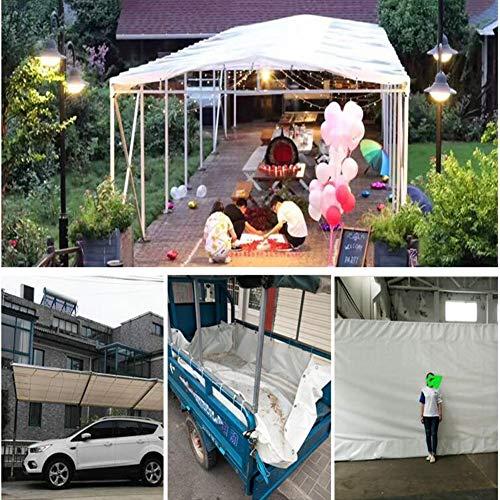 CJC Markisen Plane Reiß- Und Reißfest Überdachungsplanen Wasserdicht Zum Dach Camping Zelt Lastwagen Wohnmobil (Color : White, Size : 3x5m) -
