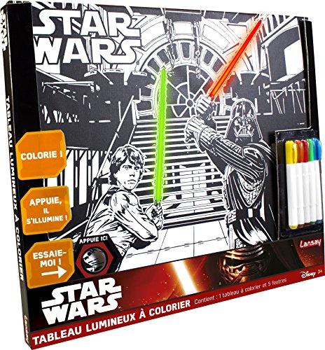 Unbekannt Lansay 25030-Star Wars-Tabelle beleuchtet Hat Malbuch