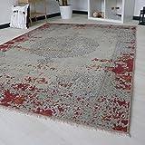 Designer Teppich dunkelrot rutschfest und waschbar Kelim Kilim für Küche Bad und Flur etc. in verschiedenen Größen mit Öko-Tex (160cm x 230cm)