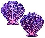 Pastease® Damen Glitzer lila und rosa Meerjungfrau Seashell Nippel Pasties