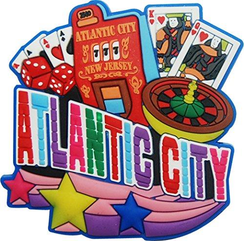 Atlantic City Souvenir Magnet mit Symbole der Ihre berühmten Casino